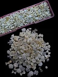 1000pcs mistura de resina branco arte decoração de unhas