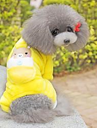 Dog Pants Yellow Dog Clothes Winter Cartoon / Animal Cosplay