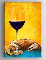 Oil Painting Modern Abstract Wine Cup Hand Painted Canvas with Stretched Framed