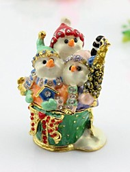 Christmas Gifts Snowman Trinket Box
