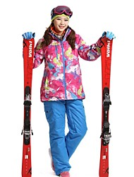 Women's Fashional Thermal Thick Waterproof  Rose Red Skiing Suits