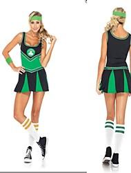 Cheerleader Costumes Performance Women's Sexy Nylon Dance Dress-Including Hand Flowers And Socks