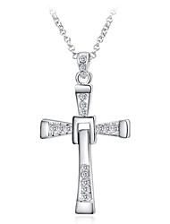 Weißgold Kreuz Halskette roxi® (1pc)