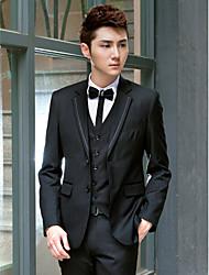 solide noir tuxedo slim fit polyester