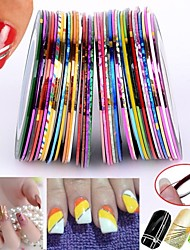 30pcs colori misti rotoli di nastro striping linea chiodo decorazione di arte sticker