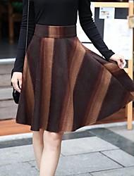 rayures tweed des femmes jupe avec ceinture (plus de couleurs)