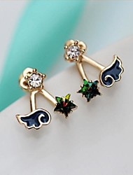 Stud Earrings Women's Alloy Earring Crystal