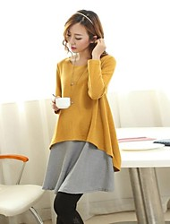 Maternity's Fashion Loose Long Sleeved Dress