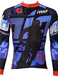 PALADIN® Camisa para Ciclismo Homens Manga Comprida Moto Respirável / Secagem Rápida / Resistente Raios Ultravioleta Blusas 100% Poliéster