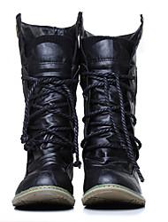 Luobo Women's Fashion All Match Classic Flat Base Martin Boots