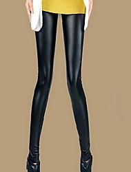 Women's Sexy Matte Imitation Leather Slim Legging