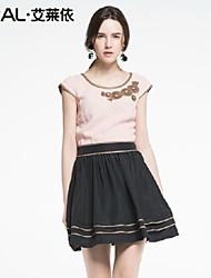 elegante vestito di un pezzo di eral®women abito estivo rappezzatura casuale con appliques