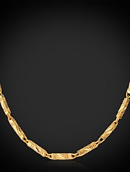 U7® Cool Chunky Necklace 18K Real Gold Plated Classical Link Chain Necklace Fashion Jewelry for Men