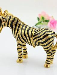 Alloy Metal Zebra Jewelry Box