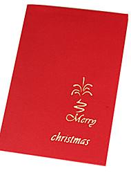 Casa del recorte de papel 3d y árbol tarjetas de Navidad