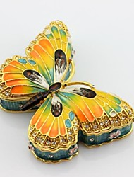 Enamel Pewter Butterfly Trinket Box Jewelry Box