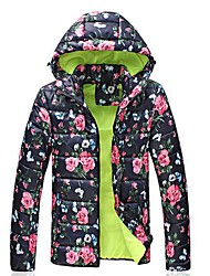 Men's Casual Hooded Padded Japanese Floral Coat