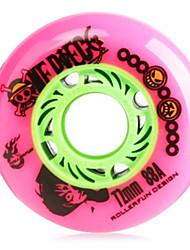 PU Skate Wheels for Roller Skates Shoes 72MM 8 PCS