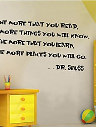 Wall Stickers Wall Decals, Home Decoration Dr.Seuss Word Saying Quotes Mural PVC Wall Stickers