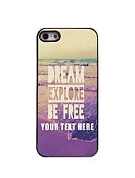 Personalized Phone Case - Dream Explore Be Free Design Metal Case for iPhone 5/5S