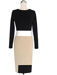 Givenchy&One Women'S Contrast Color Sheath Dress