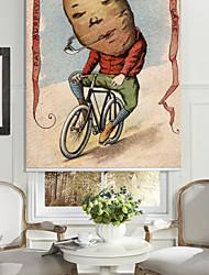 томатный человек верхом на велосипеде ролика оттенок