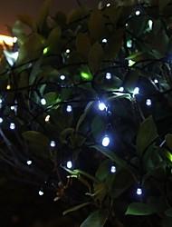 12m / 100 LED blanches solaires mariage en plein air fêtes de noël intérieur gazon alimentée patio décoration de jardin