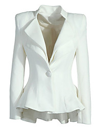 Women's Coats & Jackets , Cotton/Polyester Casual/Work Long Sleeve deal4025
