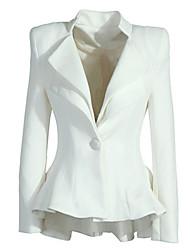 manga larga de la manera coreano sólido chaqueta color de las mujeres e9