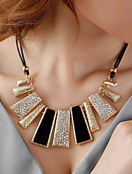 Women's Statement Necklaces Geometric Irregular Rhinestone Imitation Diamond Alloy Fashion European Black Jewelry For Party Daily Casual