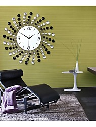 Fashionable Creative Black And White Diamond Modern Luxurious Sitting Room Wall Clock