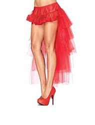 Women's Red/White/Black Skirts , Sexy Asymmetrical