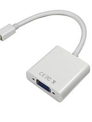 0.1m 0,328 pés Mini DisplayPort macho para VGA cabo de vídeo feminino para laptop Apple MacBook