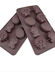 8 buraco moldes forma de ovo de coelho bolo de gelo geléia de chocolate, silicone 21,8 × 11,8 × 2,5 centímetros (8,6 × 4,7 × 1.0inch)
