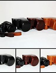Dengpin PU Leather Camera Protective Case Bag Cover with Shoulder Strap for Panasonic Lumix  DMC-FZ1000 FZ1000