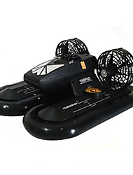 Versatility Road Snow Remote Simulation Speed Boat Ship Rubber Raw Materials Black and Silver Speedboat