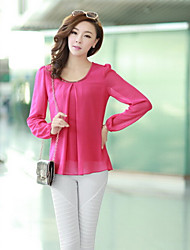 F.I.R Women's Casual Long Sleeve Tops & Blouses (Chiffon)