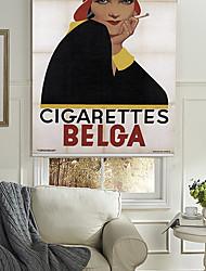 de rokende dame rolgordijn