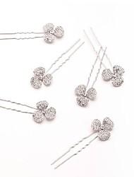 Clover Rhinestones Wedding/Party Bridal Hairpins (3 pieces/set)