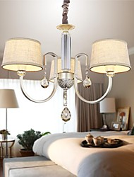Crystal Chandeliers 3 Lights Fashion Painting Metal 220V