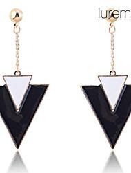 Lureme®Vintage Geometric Triangle Enamel Earrings