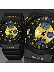 OHSEN® Men's Watch Quartz Sport Watch LED / Calendar / Chronograph / Water Resistant/Water Proof Silicone Band Cool Watch Unique Watch