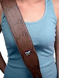 nye brun boa mønster pu læder 2,7 tommer justerbar guitar strop med guitar pick holder