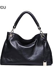 DUDU® Women's Genuine Cow Leather Shoulder Handbag Purse Tote Bag