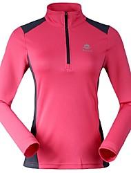 Femme T-shirt Camping & Randonnée / Pêche / Escalade / Fitness / Courses / Plage / Ski de fondRespirable / Séchage rapide / Zip frontal /