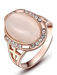 Women's Roxi Exquisite Rose-Golden Plated Elliptical Pearl Rings