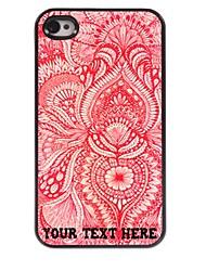 caso di telefono personalizzato - caso fresco design in metallo per iPhone 4 / 4S