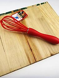 vermelho pequeno misturador tamanho do ovo, silicone 20,5 × 5 × 1,8 centímetros (8,0 × 2,0 × 0,7 polegadas) cor aleatória