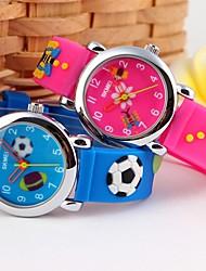 Children's Cartoon 3D Pattenr Silicone Band Quartz Wristwatch (Assorted Colors)
