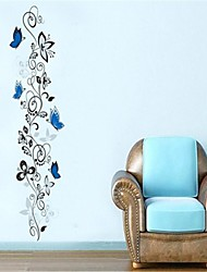 Wall Stickers Wall Decals, Blue Flower Vine PVC Wall Stickers
